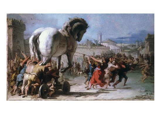 Trojan Horse-Giovanni Domenico Tiepolo-Giclee Print