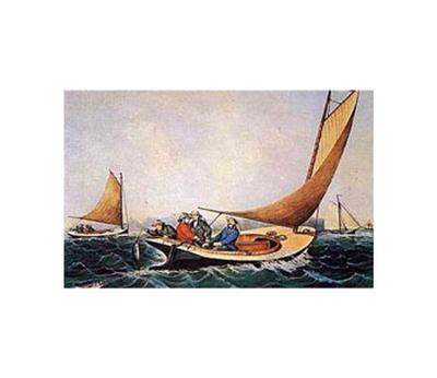 Trolling for Blue Fish-Currier & Ives-Art Print