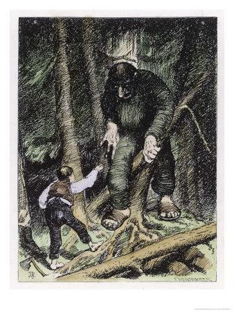Theodor Kittelsen Forest Troll Wall Art  Canvas