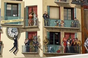 Trompe-L'Oeil on World Cinema Building, Cannes, Provence-Alpes-Cote D'Azur, France