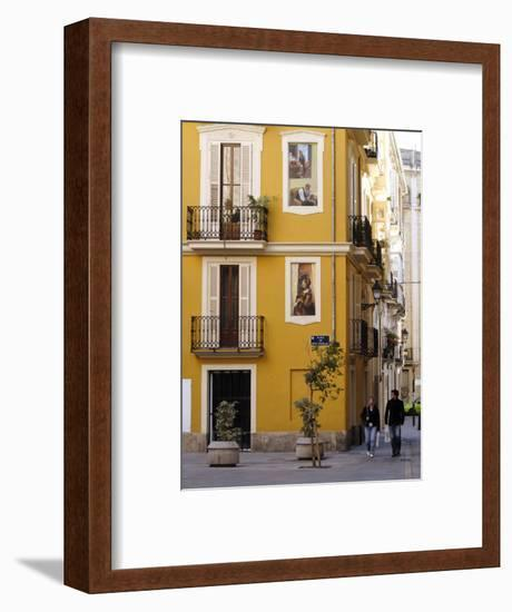 Trompe L'Oeil Paintings on Facades, St. Nicolas Square, Valencia, Spain, Europe-Thouvenin Guy-Framed Photographic Print