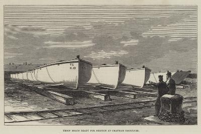 Troop Boats Ready for Service at Chatham Dockyard--Giclee Print