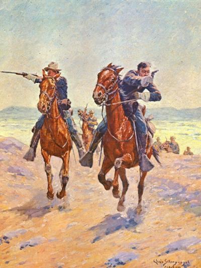 Troopers in Pursuit-Charles Shreyvogel-Art Print
