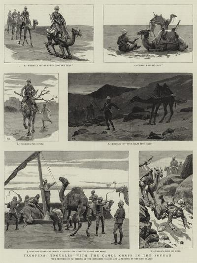 Troopers' Troubles, with the Camel Corps in the Soudan--Giclee Print