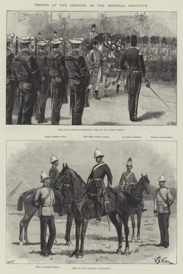 Troops at the Opening of the Imperial Institute-William Heysham Overend-Giclee Print