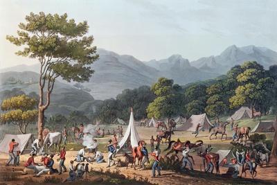 Troops Bivouacked Near Villa Velha, Engraved by C. Turner, 19th May 1811-Thomas Staunton St. Clair-Giclee Print