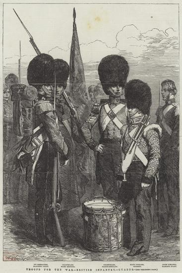 Troops for the War, British Infantry, Guards--Giclee Print