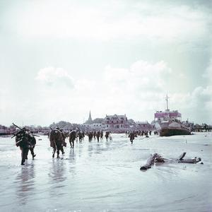 Troops of the 3rd Canadian Infantry Division Landing at Juno Beach Near Bernieres-Sur-Mer on D-Day