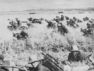 Troops of the Italian Infantry in Ethiopia Between October 1935 and May 1936--Photographic Print
