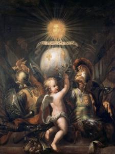 Trophée aux armes de Louis XIV