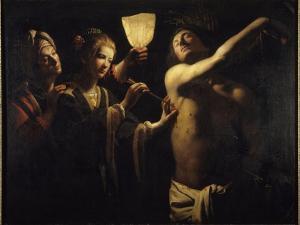 Saint Sébastien soigné par Irène by Trophime Bigot