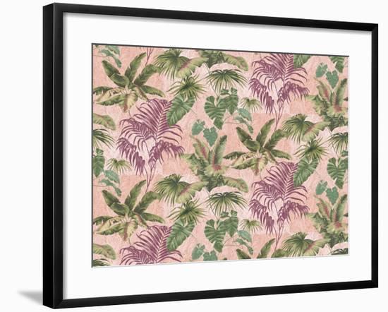 Tropic Blocks Blush 1-Bill Jackson-Framed Giclee Print