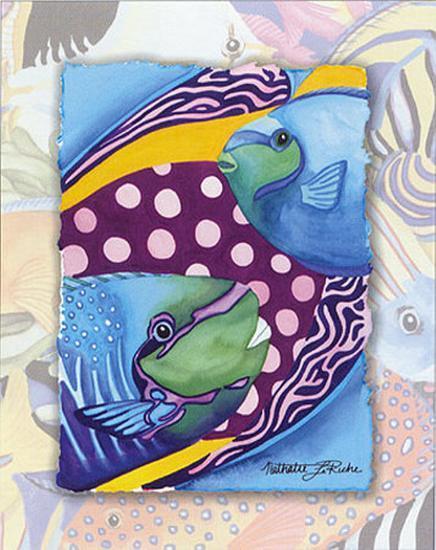 Tropic Fish II-Nathalie Le Riche-Art Print