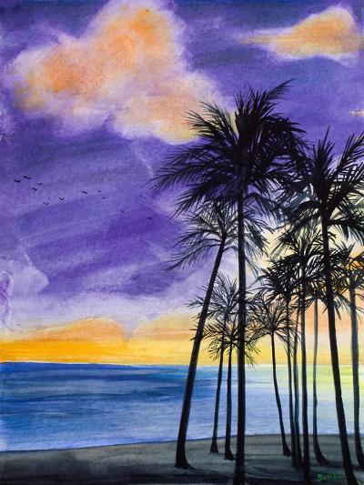 Tropic Nights II-Linda Baliko-Art Print