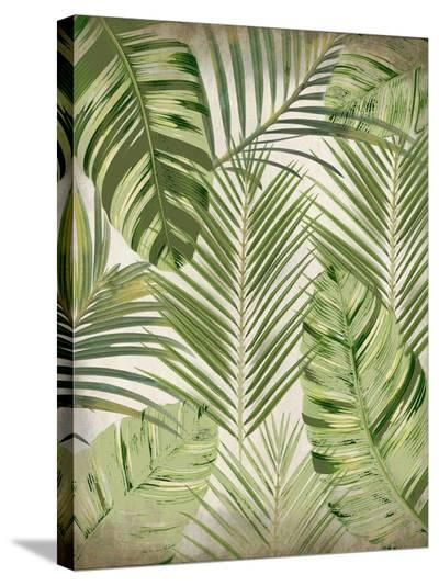Tropic Palms 1-Kimberly Allen-Stretched Canvas Print