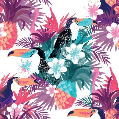 Tropical Abstract Vector. Seamless Illustration-James Thew-Art Print