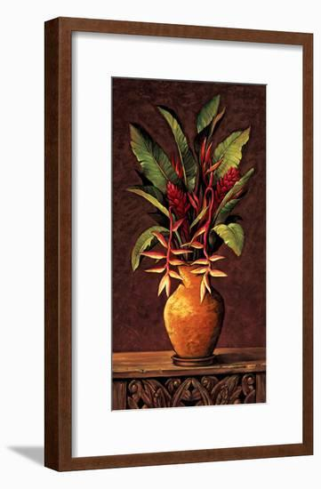 Tropical Arrangement II-Eduardo Moreau-Framed Giclee Print