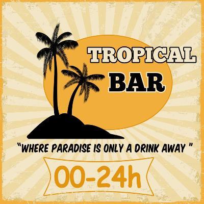 Tropical Bar Vintage Poster-radubalint-Art Print
