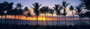 Tropical beach at sunset, Maui, Hawaii, USA