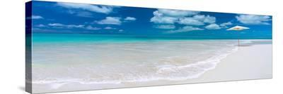 Tropical beach in Cayo Largo, Cuba--Stretched Canvas Print