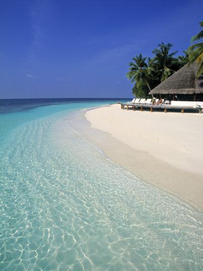 Tropical Beach, Maldives, Indian Ocean-Jon Arnold-Photographic Print