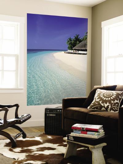 Tropical Beach, Maldives, Indian Ocean-Jon Arnold-Wall Mural