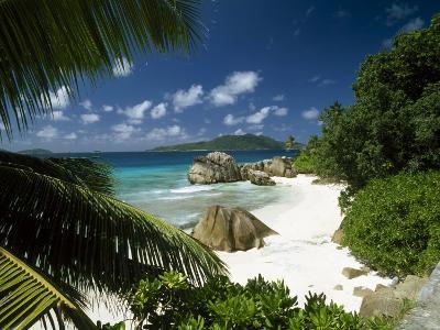 Tropical Beach Scene, Anse Patates, La Digue, Seychelles-Lee Frost-Photographic Print