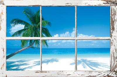 Tropical Beach Window