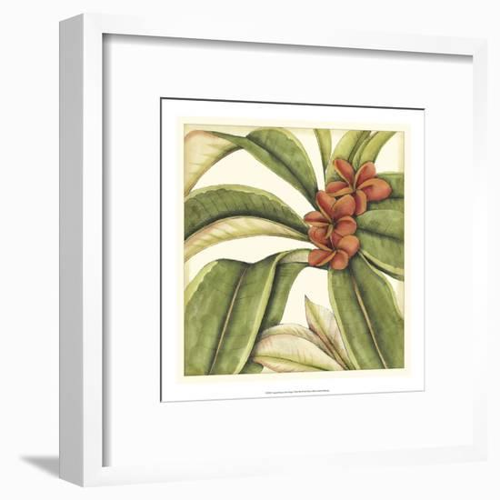 Tropical Blooms and Foliage I-Jennifer Goldberger-Framed Art Print