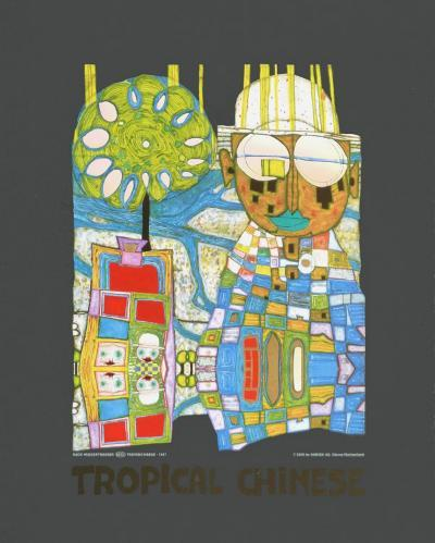Tropical Chinese-Friedensreich Hundertwasser-Art Print