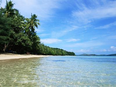 Tropical Coastline of Turtle Island-David Papazian-Photographic Print