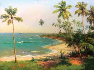 Tropical Coastline-Karen Dupr?-Premium Giclee Print