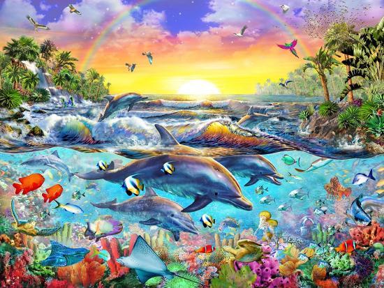 Tropical Cove-Adrian Chesterman-Art Print