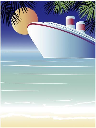 Tropical Cruise Ship-Linda Braucht-Giclee Print