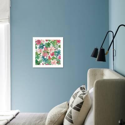 Tropical Dream Bright On White Art Print By Danhui Nai Artcom
