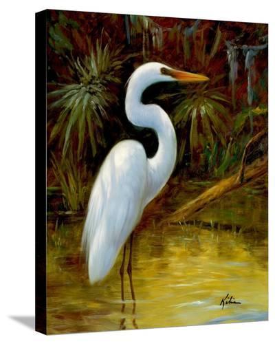 Tropical Egret I-Kilian-Stretched Canvas Print
