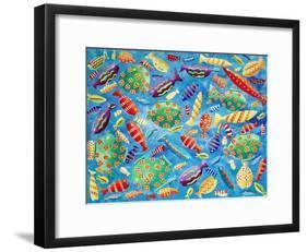Tropical Fish, 2006-Julie Nicholls-Framed Giclee Print
