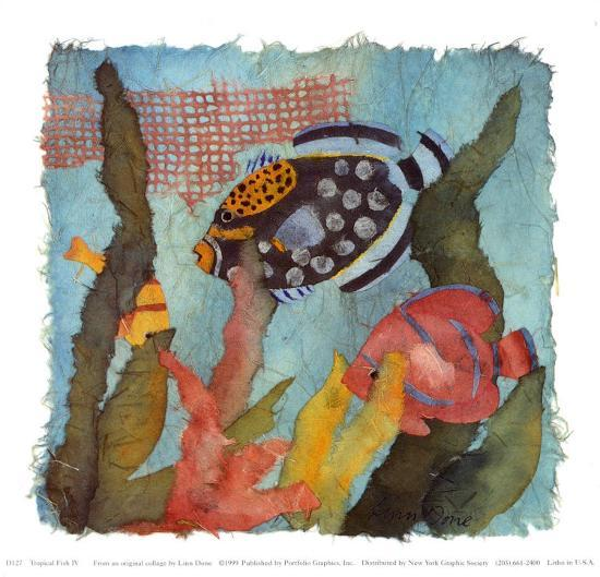 Tropical Fish I V-Linn Done-Art Print