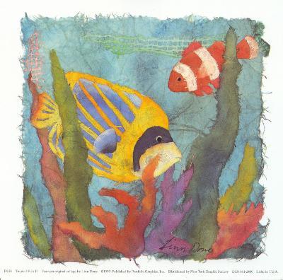 Tropical Fish II-Linn Done-Art Print