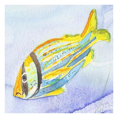 Tropical Fishy III-Beverly Dyer-Art Print