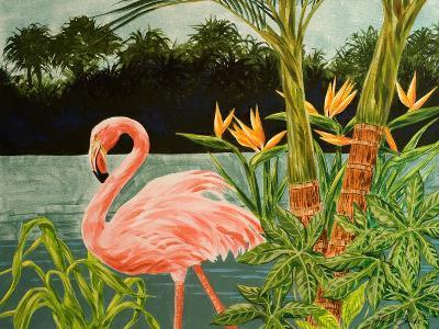 Tropical Flamingo I-Linda Baliko-Art Print