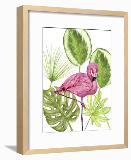 Tropical Flamingo II-Melissa Wang-Framed Art Print
