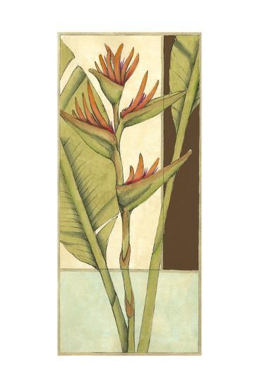 Tropical Flower Panel II-Jennifer Goldberger-Art Print