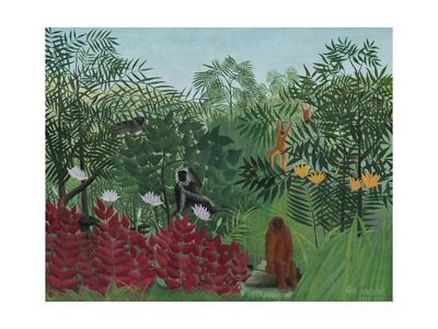 Tropical Forest with Monkeys, 1910-Henri Rousseau-Giclee Print