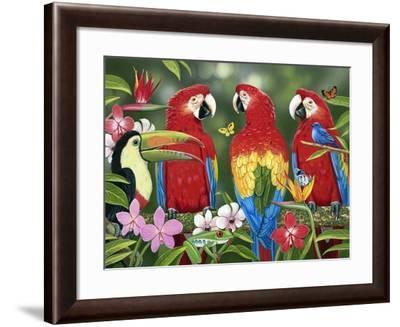 Tropical Friends-William Vanderdasson-Framed Giclee Print