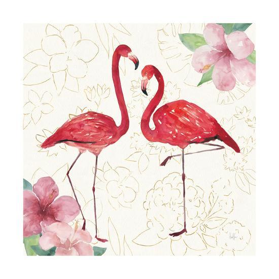 Tropical Fun Bird IV with Gold-Harriet Sussman-Art Print
