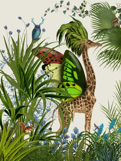 Tropical Giraffe 1-Fab Funky-Art Print