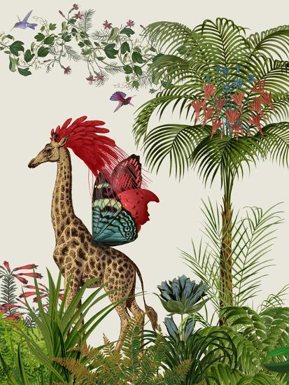 Tropical Giraffe 4-Fab Funky-Art Print