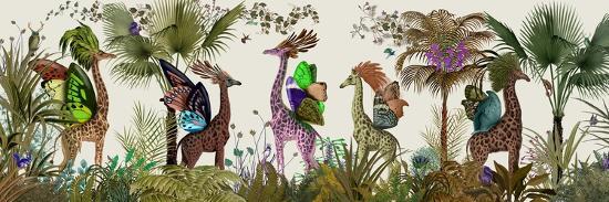 Tropical Giraffes, Moss-Fab Funky-Art Print