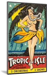 Tropical Girl Pin Up